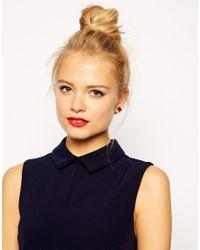 ASOS - Red Jewel Bar Stud Earrings - Lyst