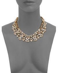 kate spade new york - Metallic Cocktails & Conversation Faux Pearl Statement Necklace - Lyst
