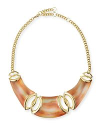 Alexis Bittar | Metallic Lucite Interlocking Bib Necklace | Lyst