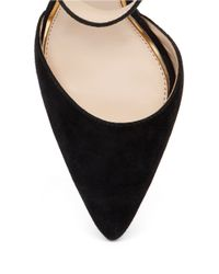 Jessica Simpson | Black Cita Suede And Leather Point Toe Pumps | Lyst