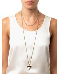 Givenchy - White Double-Chain Shark'S Tooth Necklace - Lyst
