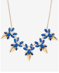 Ted Baker - Blue Jewelled Arrow Necklace - Lyst