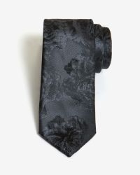 Ted Baker - Gray Twotone Floral 5.5cm Tie for Men - Lyst