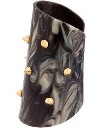 Alexander McQueen | Gray Grey Marbled Plexiglass Stud Cuff | Lyst