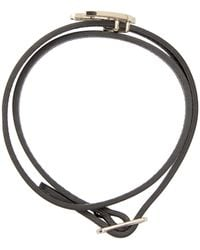 McQ - Black Leather Swallow Charm Bracelet - Lyst