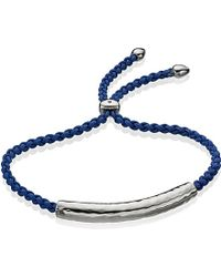 Monica Vinader - Blue Esencia Friendship Bracelet - Lyst