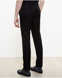 Alexander McQueen - Black Slim Cotton Trousers for Men - Lyst