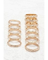 Forever 21 | Metallic Hammered Ring Set | Lyst