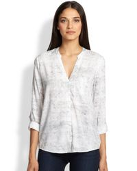 Soft Joie - White Anabella Reptile-print Shirt - Lyst