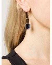 Rebecca | Metallic 'elizabeth' Pendant Earrings | Lyst