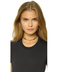 Eddie Borgo - Metallic Extra Thin Safety Chain Choker - Gold - Lyst