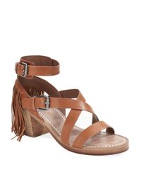 Belle By Sigerson Morrison - Brown Alisha Leather Sandals - Lyst