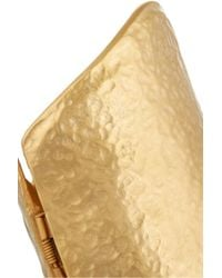Kenneth Jay Lane | Metallic Hammered Gold-plated Cuff | Lyst
