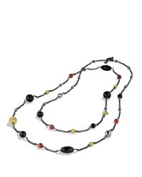 David Yurman - Metallic Bead Necklace With Black Onyx, Hematine, And Gold - Lyst