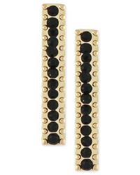BCBGeneration - Metallic Gold-tone Black Bead Climber Stud Earrings - Lyst