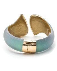 Alexis Bittar - Blue Vert D'eau Bypass Hinged Bracelet - Lyst