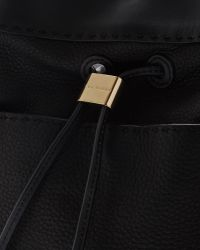 Ted Baker - Black Stab Stitch Leather Bucket Bag - Lyst
