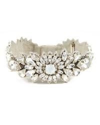 Deepa Gurnani | White Starlight Crystalburst Cuff | Lyst
