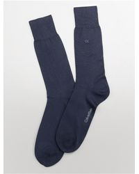 Calvin Klein | Blue Underwear Bamboo Blend Flat Knit Dress Socks for Men | Lyst