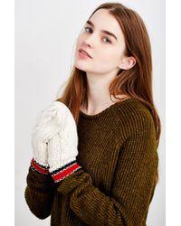 Urban Outfitters - Multicolor Collegiate Stripe Cuff Mitten - Lyst