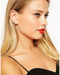 ASOS - Metallic Simple Metal Ball Double Earrings - Lyst