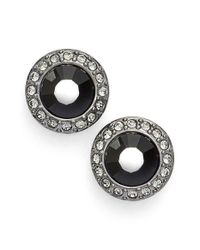 Givenchy - Halo Stud Earrings - Hematite/ Black - Lyst