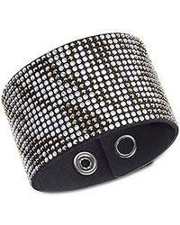 Swarovski | Black Slake Large Zebra Bracelet | Lyst