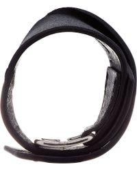 Julius - Black Leather Bracelet for Men - Lyst