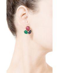 Seaman Schepps - Multicolor Cabochon Earrings in Precious Stones - Lyst