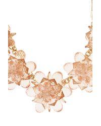 Coast - Orange Fern Flower Necklace - Lyst
