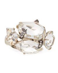 Alexis Bittar Fine - Metallic Clear Quartz White Diamond Cluster Ring - Lyst