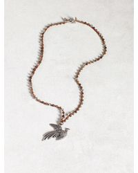 John Varvatos | Brown Silver Pheasant Necklace for Men | Lyst
