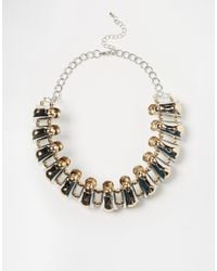 ASOS | Metallic Chunky Metal Beaded Collar Necklace | Lyst