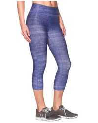 Under Armour | Blue Alpha Heatgear® Cropped Printed Leggings | Lyst