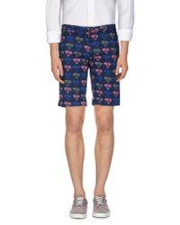 Pence - Blue Bermuda Shorts for Men - Lyst