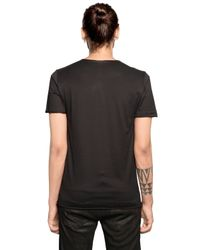 Giorgio Brato | Black Raw Cut Cotton Jersey T-shirt for Men | Lyst