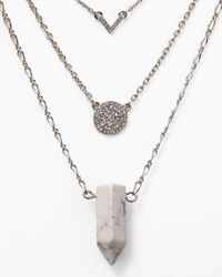 "Aqua | Metallic Olympia Pave Necklaces 20-23"", Set Of 3 
