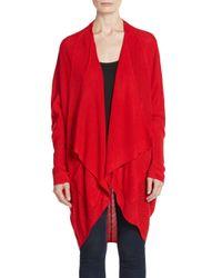Sweet Romeo - Red Draped Knit Cardigan - Lyst