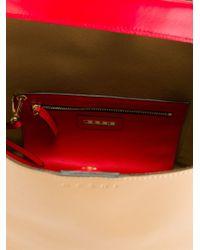 Marni | Red 'pod' Colour Block Tote | Lyst