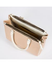 Paul Smith | Brown Women's Small Taupe And White Double-zip Tote Bag | Lyst