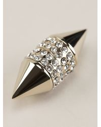 Givenchy | Metallic Crystal Embellished Magnetic Earring | Lyst