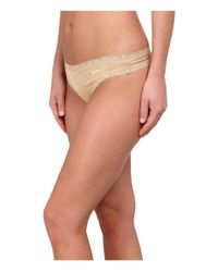 DKNY | Natural Signature Lace Thong Dk3687 | Lyst