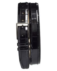 Mezlan | Black Eelskin Belt for Men | Lyst