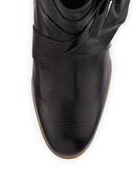 kate spade new york - Black Tracee Leather Bow Bootie - Lyst