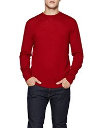 French Connection | Red Merino Basics Wool Jumper for Men | Lyst