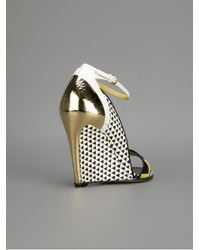 Sergio Rossi | Yellow Wedge Sandals | Lyst