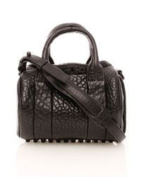 Alexander Wang | Black Mini Rockie Leather Tote | Lyst