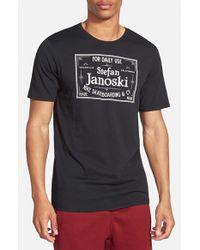 Nike - Black Sb 'df Janoski' Graphic Crewneck T-shirt for Men - Lyst
