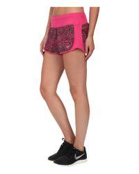 Nike   Pink Dri-fit™ Crew Print Shorts   Lyst