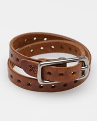Billykirk - Brown Double Wrap Cuff for Men - Lyst